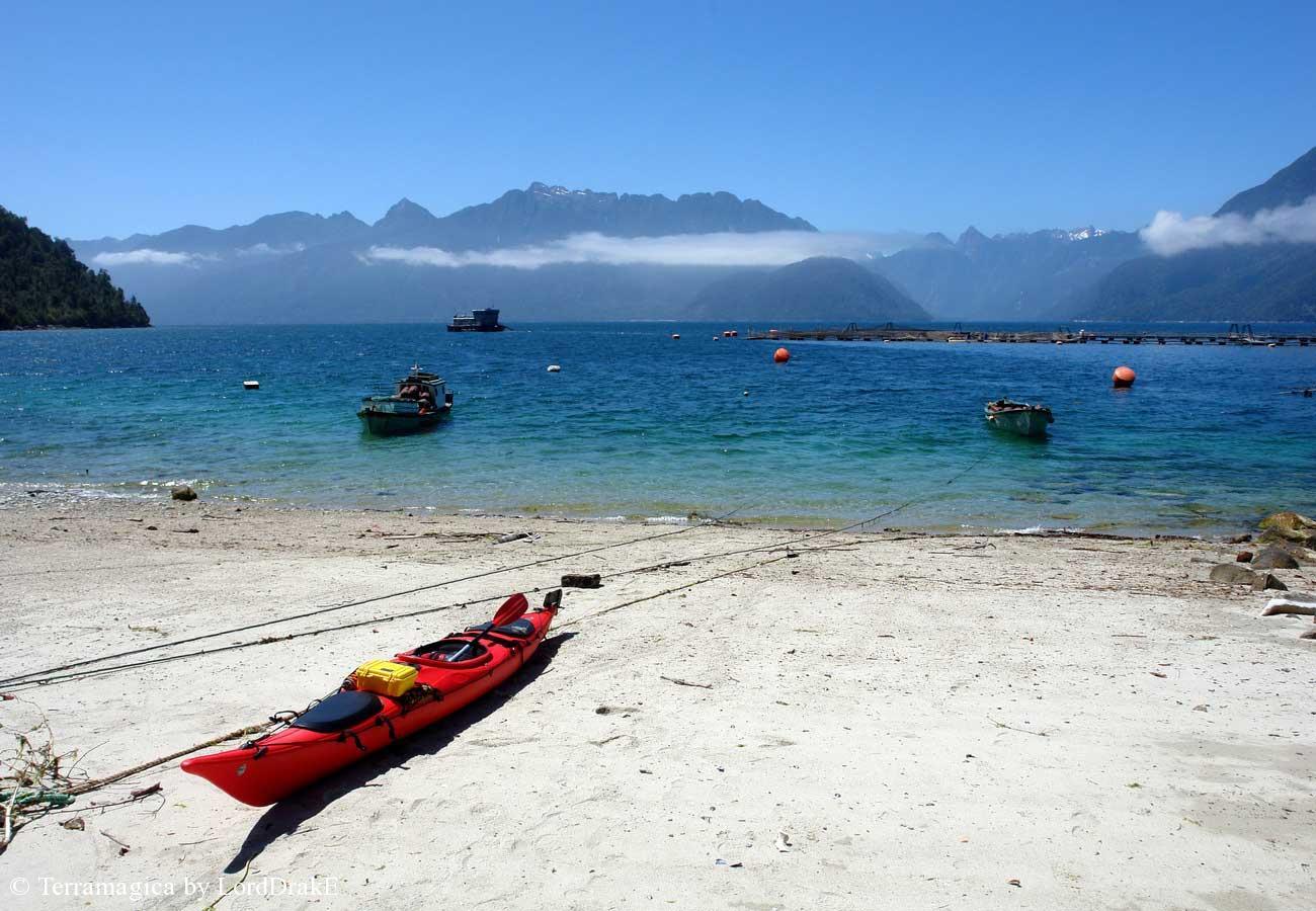 Expedicion en Kayak a los Fiordos Desembarco en Telele