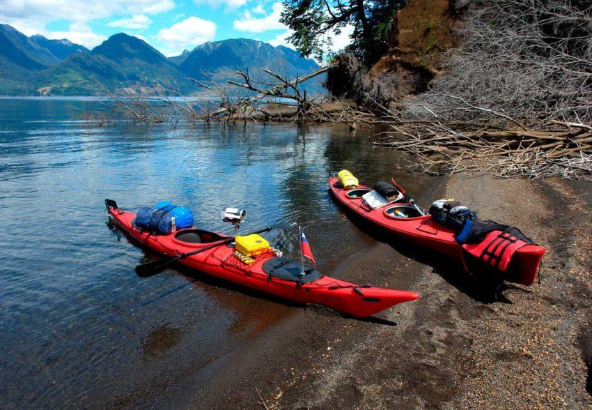 Circunnavegacion en Kayak al Lago Todos los Santos desembarco