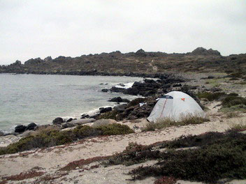 Travesia en Kayak a la Isla Damas campamento