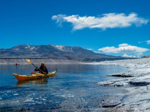 Travesia en Kayak a la Laguna Verde terminando la ruta