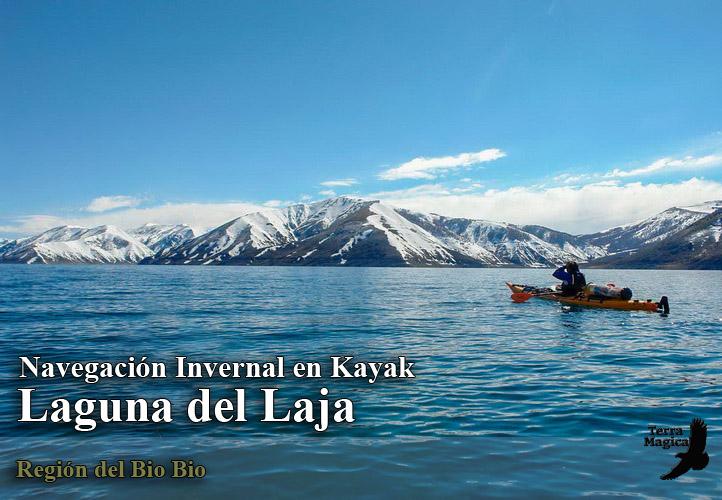 Circunnavegacion en kayak a la Laguna del Laja