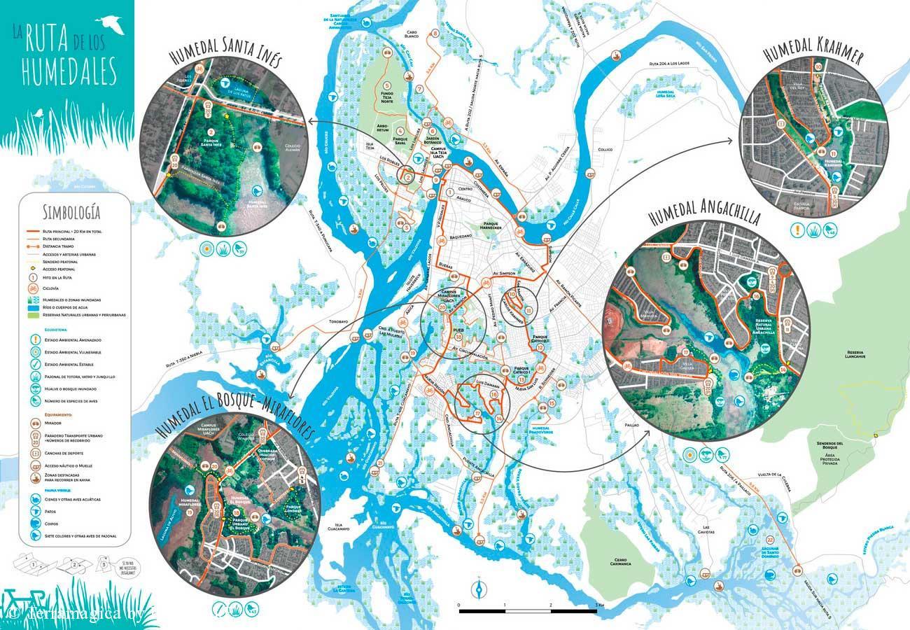 Mapa humedales valdivianos